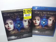 The Mortal Instruments: City of Bones (Blu-ray, Region A, Canadian) NEW - Extras