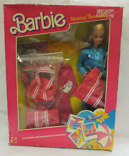 NRFB 1986 BLUE VACATION SENSATION BARBIE DOLL #1675 MATTEL WITH ACCESSORIES