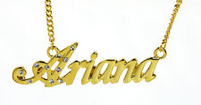 18K Gold Plated Necklace With Name ARIANA - Birthday Gifts For Her Name Plate