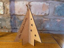 Wooden Personalised 3D Christmas Tree Card: Custom Special Card Decoration