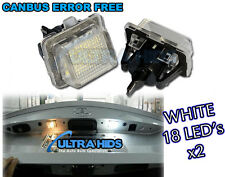 18 SMD LED number / LICENCE PLATE Units MERCEDES C CLASSE W204 immobiliare / Saloon / STATION WAGON
