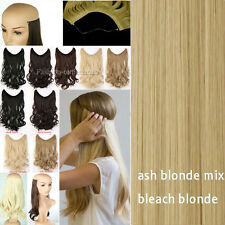 """20"""" Invisible Wire Secret Headband Long Curly Straight Hair Extensions As Human"""