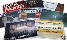 5 x SCHUTZHÜLLE KARTENBOX KUNDENKARTE KARTEN HÜLLE AUSWEISHÜLLE KARTENHÜLLEN EC