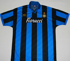 1994-95 INTER MILAN Player Issue Umbro Home Football Shirt (taglia xl)