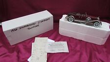 Franklin Mint 1930 Duesenberg J derham tourster 1/24 scale MIB with coa, label
