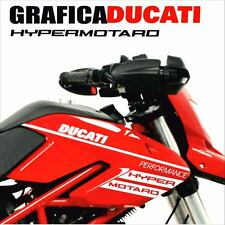 KIT ADESIVI DECAL STICKERS DUCATI HYPERMOTARD 796 1100 EVO CARENA GRAFICA BIANCO