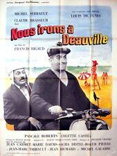 Affiche 120x160cm NOUS IRONS A DEAUVILLE 1962 Louis De Funes, Michel Serrault R