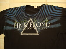 Pink Floyd Dark Side of the Moon Pyramid Sound Wave Artwork Black T Shirt L