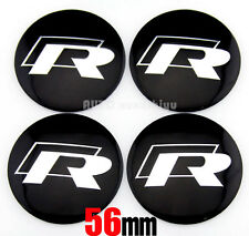 "4x 56mm 2.2"" Auto Car Wheel Center Hub Cap Emblems Badge stickers Fit for R-line"