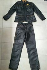 vintage motorcycle suit,jacket and pants leather