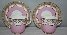 J & W Smith & Co, Dundee - Antique Pair of Tea Cups and saucers - c1867