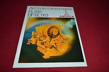 Deutz FL912 BD 6L913 Air Cooled Diesel Engine Dealer's Brochure YABE11 Ver81