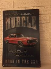 """American Muscle"" ""Parts and Service"" ""Made in the U.S.A."" Sign New"