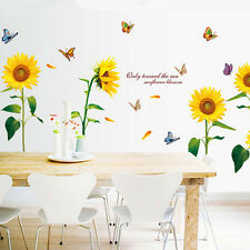 Waterproof Removable Sunflower Art Wall Decal Home Room Backdrop Stickers