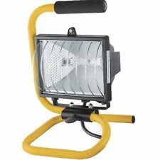 PORTABLE 120W WORK LIGHT SITE SPOT FLOOD LIGHT INDOOR OUTDOOR FLOODLIGHT & BULB