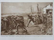 1915 A SPORTING CHANCE- BRITISH SOLDIERS MAKING A DASH FOR IT WWI WW1