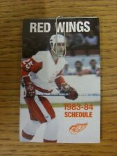 1983/1984 Fixture Card: Ice Hockey - Detroit Red Wings (fold out style). Any fau
