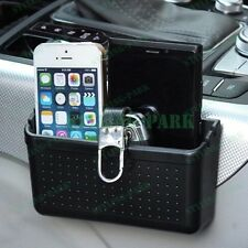 Car Mobile Cell Phone Charging Hole Pouch Pocket Garbage Storage Box Container