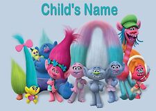 Childrens / Kids A4 Trolls Dinner Mat / Place Mat. Personalised