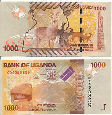 Uganda - 1000 Shillings 2015 UNC - Pick New