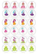 24 Princesse Fée Fées Wafer/Riz Décoration De Cupcake Comestible Gâteau Féerique