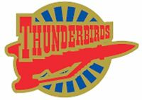 Gerry Anderson's Thunderbirds Thunderbird  Three  enamel pin badge BRAND NEW  !