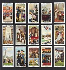 CIGARETTE CARDS. Will Tobacco. THE REIGN OF KING GEORGE V. (Full Set 50).(1935).