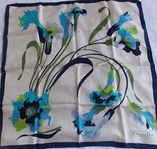 Foulard carré soie roulotté main   Dior -  silk vintage scarf hand rolled seta