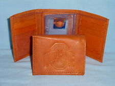OHIO STATE BUCKEYES   Leather TriFold Wallet   NEW  tan z 3 ot