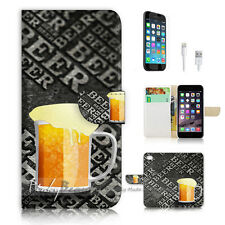 iPhone 7 (4.7') Flip Wallet Case Cover P1234 Beer