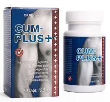 Cum Plus + 30 Caps Pillole per Aumentare la Quantità di Sperma e Testosterone