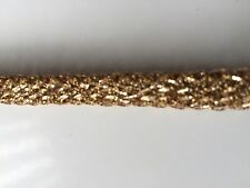 ATTRACTIVE GOLD STRETCH FABRIC CORD LACE TRIM  - SOLD by METER