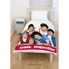 Offical 1D One Direction 'Craze' Panel Fleece Blanket Bed Throw (120cm x 150cm)
