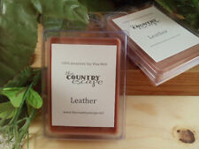 Leather Scented Soy Wax Clamshell Melt- Rustic Rawhide -Maximum Scented