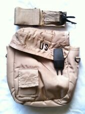 US Military 2 QT Collapsible Water Canteen Pouch Carrier Cover Sling Desert