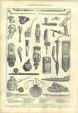 1873 Ancient Curious Tobacco Pipes International Exhibition Greenland Turkey Jav