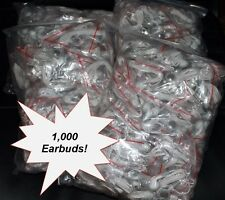 BULK WHOLESALE Lot of 1000 WHITE 3.5mm In Ear Earbuds / Earphones