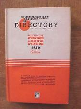 Aeroplane Directory of British Aviation - 1958 Edition aviation book HB/DJ