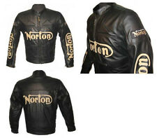 NORTON MOTORBIKE LEATHER JACKET - CE APPROVED FULL PROTECTION