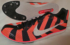 New Nike Zoom Rival D 8 Men's Track Spike Running Shoes Size:12.5 Orange/Black