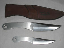 Set 2 Gil Hibben UC454 & UC455 Thrower Throwing Hunting Knives Knife w/ Sheath