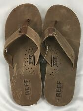 Reef Men's Sandals Flip-Flops Draftsmen Arch System Bronze Brown NWT $60 Size 10