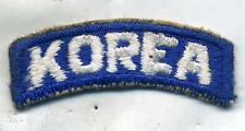 US Army Post WWII Korea Tab Patch White on Blue