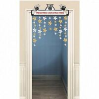 Hollywood Movie Door Decoration - 91 x 122 cm - Silver and Gold Party Decoration