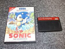 GENUINE SEGA MASTER SYSTEM GAME - SONIC 1 - BOXED - TESTED