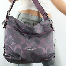 NWT Coach 24 CM Signature Duffle Shoulder Crossbody Bag F15067 Lilac Purple Grey
