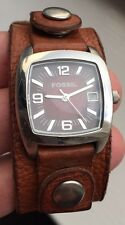LADIES FOSSIL BROWN LEATHER STRAP WATCH