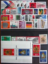 Germany Complete Year 1973 Stamp Set w/ SS Mint Never Hinged MNH German Stamps