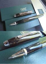 CROSS TOWNSEND PENNA ROLLER MARRONE E RODIO +scatola +Gar Roller Rhodium Pl. Pen