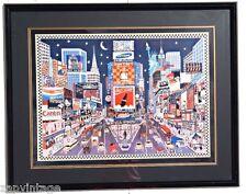 "RARE Vtg 1997 ""New York Glitter"" by ROXY Signed Ltd Ed Art (256/375) Lithograph"